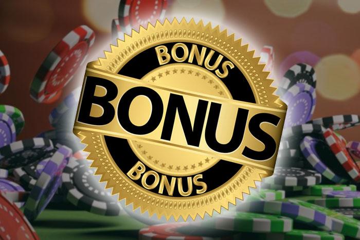 Casino bonus badge met fiches