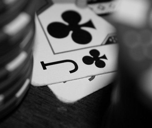 De speelkaart is klaveren boer